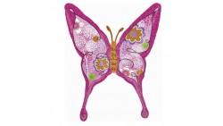 Palloncino foil farfalla fucsia 71x94cm