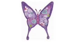 Palloncino foil farfalla lilla 71x94cm