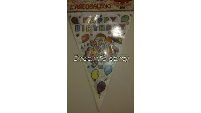 FESTONE BANDIERINE  PVC HAPPY BIRTHDAY 3 MT