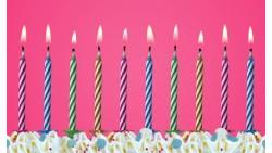 10 candele CANDELINE MAGICHE multicolor spegni e riaccendi - per torte di compleanno, feste party ecc.