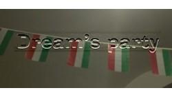 FESTONE BANDIERINE Bandiera ITALIA in plastica da esterno 7mt - TRICOLORE Italiano - ghirlanda addobbo Bandiere plastificate