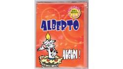 Biglietto di auguri Musicale - Cantanome ALBERTO