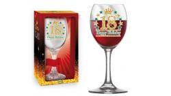Bicchiere da Vino - Brindisi 18 Anni - idea regalo gadget compleanno festa maggiorenne