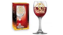 Bicchiere da Vino - Brindisi 30 Anni - idea regalo gadget compleanno festa party