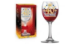 Bicchiere da Vino - Brindisi 40 Anni - idea regalo gadget compleanno festa party