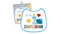 BAVAGLINO bebe' - Il mio 1° Compleanno Celeste