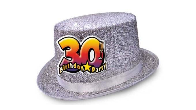 Popolare Cappello CILIDRO glitter - Buon Compleanno 30 Anni LQ31