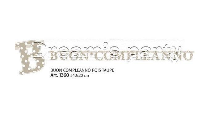 FESTONE BUON COMPL. POIS TAUPE 285X23CM