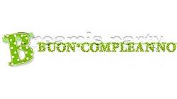 FESTONE BUON COMPL. POIS VERDE LIME 285X23CM