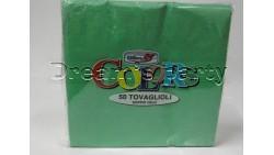 50 Tovaglioli Verde 33x33cm Doppio Velo