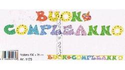 FESTONE BUON COMPLEANNO CAPPELLO 330X23 CM