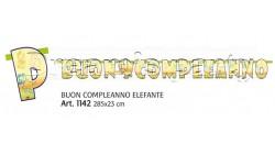 FESTONE BUON COMPLEANNO ELEFANTE 300X23 CM