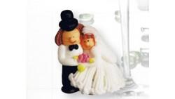 Sposi in Zucchero - Cake Topper - Decorazione Torta o Dolci 3D