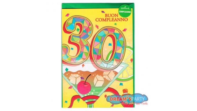 Famoso Biglietto di Compleanno - Pop Up 30 Anni GC66