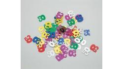 Confetti - Coriandoli da tavola sagomati 50 Anni Multicolor