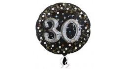 Pallone Foil Mylar 30 anni 81cm Effetto 3D