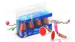 4 Bottigliette cornetti sparacoriandoli per bambini - Cin Cin TOPOLINO