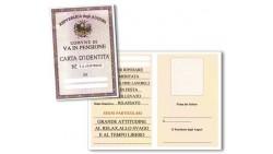 Biglietto di auguri - Carta d'Identità PENSIONE