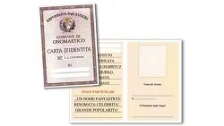 Biglietto di auguri - Carta d'Identità ONOMASTICO
