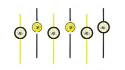 6 Cannucce tema APE gialle e nere - per decorazione feste bambini