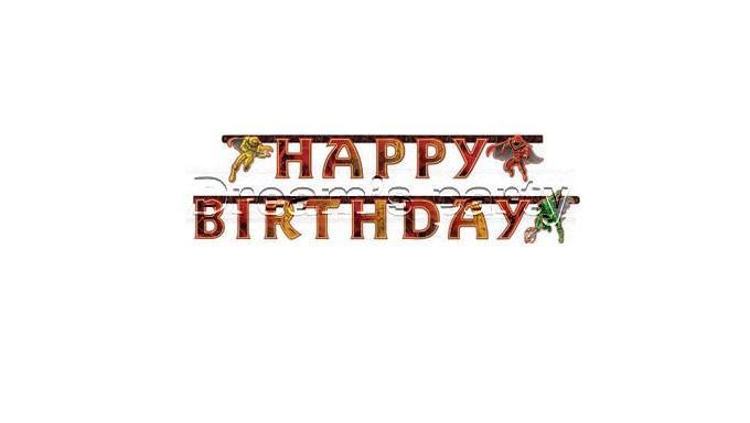 FESTONE HAPPYB BIRTHDAY POWER RANGERS 1,9MT