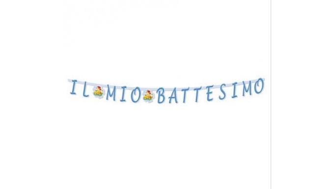 FESTONE IL MIO BATTESIMO ORSETTO CELESTE 2,81 MT