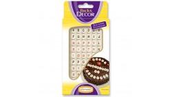 ALFABETO - Decorazione in zucchero per torte e dolci - Lettere e numeri