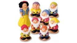 BIANCANEVE e i 7 NANI in zucchero - per decorazioni TORTE E DOLCI