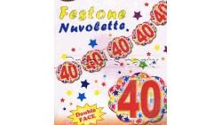 FESTONE NUVOLA 40 ANNI 4 MT