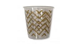 8 Bicchieri Kristall ORO in plastica - CHEVRON GOLD - addobbo decoro tavola