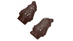 Stampo in plastica BABBO NATALE 3D per cioccolato