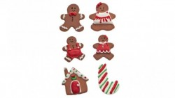 Gingerbread NATALE in zucchero - Decorazione in zucchero per Torte e Dolci
