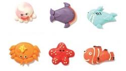 Set animali MARINI in zucchero - Decorazione in zucchero per Torte e Dolci