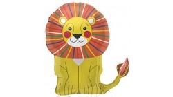 Pallone in foil MYLAR LEONE - addobbo decorazione feste, party,feste bambini - gonfiabile ad elio (Fornito sgonfio)