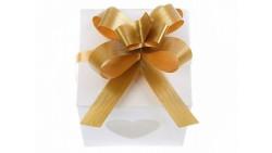 Mini COCCARDA nastrino ORO per confezionamento pacco regalo - Bottiglia